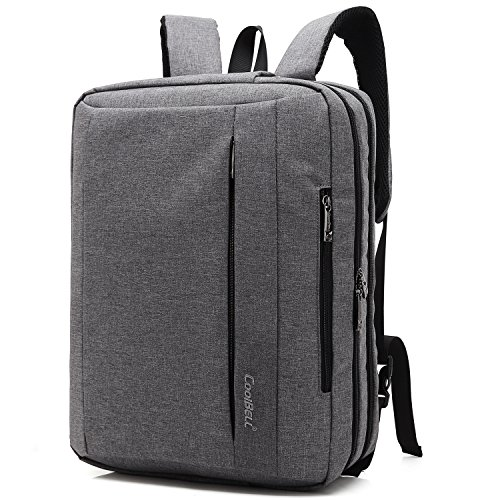 Damen-computer-aktentasche (CoolBELL17,3 Zoll umwandelbar Laptop Tasche / Rucksack Messenger Bag Oxford Gewebe Umhängetasche Backpack Mehrzweck Aktentasche für Laptop / Macbook / Tablet / Herren / Damen(Grau))