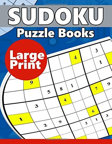 Sudoku Puzzle Books LARGE Print: Easy, Medium to Hard Level Puzzles for Adult Sulution inside by Puzzles TEAM (2016-06-25)