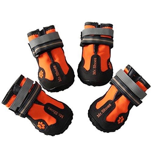 Botas para perros grandes de JoyDaog, zapatos para exteriores, impermeables, antideslizantes