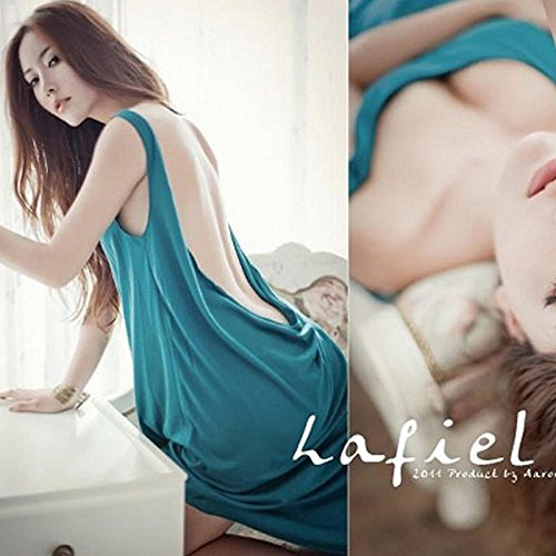Buluke Damen Loose Beach Bademode Cover up Strand Kleid Blue
