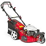 HECHT Benzin-Rasenmäher 5533 SW 3-Rad Rasenmäher (4,4 kW (6,0 PS), Schnittbreite 51 cm, 60 Liter Fangkorbvolumen, 6-fache Schnitthöhenverstellung 25-75 mm, Radantrieb)