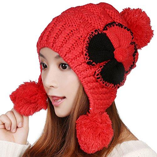 chapeau laine coréen/ joli chapeau chaud/ oreille tricot bonnet E