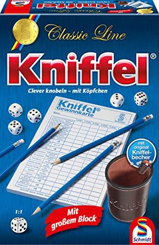 Schmidt Spiele 49203 Classic Line: Kniffel mit großen Würfeln & Block Ovale Platz