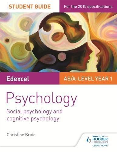 Edexcel Psychology Student Guide 1: Social psychology and cognitive psychology (Exexcel Psychology Student Gde)