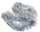 HAAC Ghirlanda Abete lamette Lunghezza 2 Metri Colore Argento per Natale
