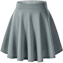 Urban GoCo Falda Mujer Elástica Plisada Básica Patinador Multifuncional ...