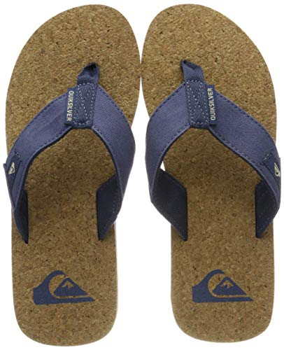 Quiksilver Herren Molokai Abyss Cork-Sandals for Men Zehentrenner, Mehrfarbig (Brown/Blue Xbcb), 46 EU -