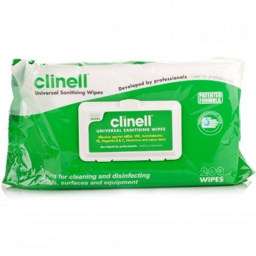 clinell-assainissement-lingettes-x-200