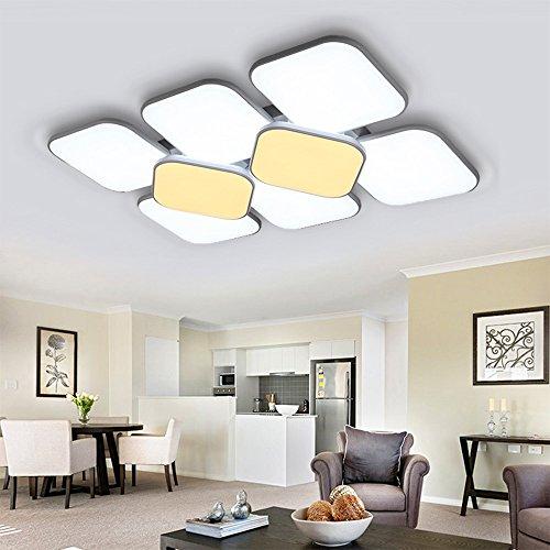 Hengda® 132W LED Deckenleuchte Deckenlampe Korridor Schlafzimmer Badleuchte Wohnzimmer Modern gemütliches Licht Markantes Design Wand-Deckenleuchte Energiespar Esszimmer Decken