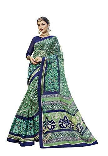 KIMANA Indian Designer Ethnic Bollywood Traditional Super Net Cotton Saree Sari S3061 Super Net Saree