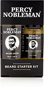 Beard Grooming Kit, A Beard Oil & Beard Wash/Shampoo Starter Kit 99% Derived From Nature By Percy Nobleman (40ml)