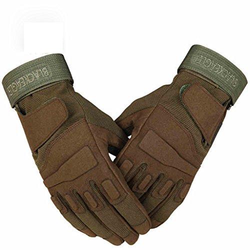 JXXDDQ Herrenhandschuhe Bergsteigen Handschuhe Bergsteigen Angeln Radfahren Outdoor Skid Training Handschuhe (Farbe : Braun, größe : M)