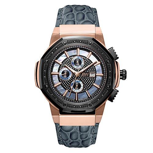 JBW JB-6101L-10C - Reloj de pulsera para hombre con diamantes de 0,16 quilates y chapado en oro rosa de 18 quilates