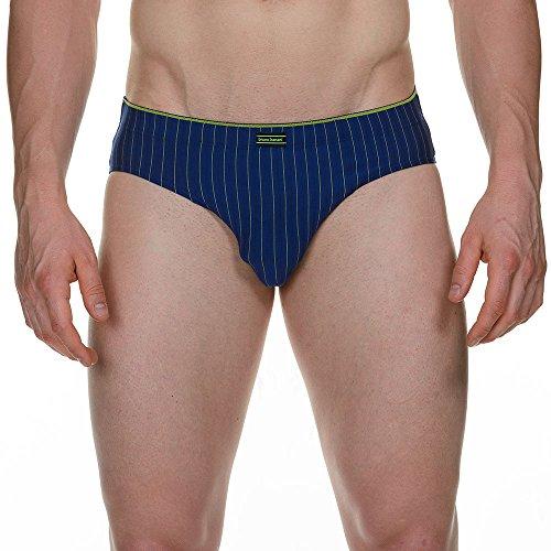 Bruno Banani Herren Slip Sportslip Chopstick, Gr. Medium (Herstellergröße: 5M), Blau (blau/gelb stripes 1748)