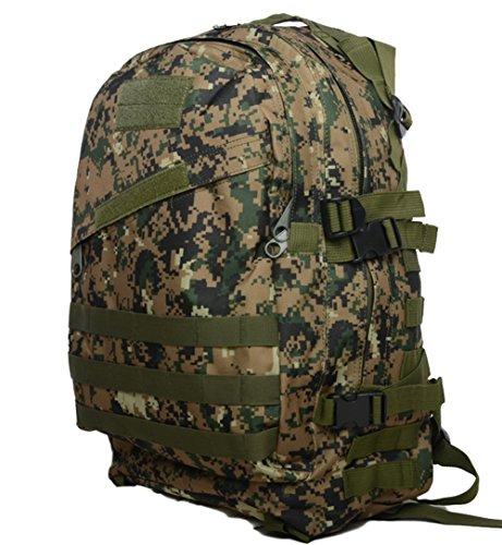 sacchetti da campeggio impermeabile zaino 3P Tad Militare Tattico Zaino Assault Borsa da viaggio per uomo, DCU Jungle Digital