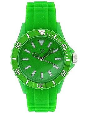 REFLEX SR003 Unisex Sport-Armbanduhr in grün mit Silikonarmband