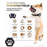 3G Pet GPS Tracker Schlüsselfinder Locator an Kragen, turnmeon® Locate Hund Katze in Echtzeit Tracking Tiere Aktivitäten mit WiFi Zaun Wasserdicht Rolling LED-Lichter App für Smartphone - 3