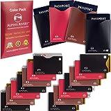 18 RFID Blocking Sleeves (14 Credit Card Holders & 4 Passport Protectors) Ultimate