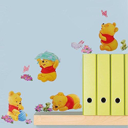 (Smart Art Disney Winnie the Pooh Tapete DIY PVC Karikatur Wandaufkleber Schön Zuhause Wandtattoos zum Weihnachten)