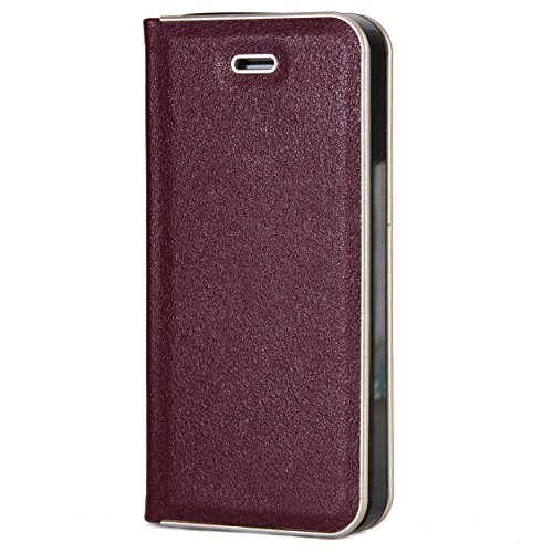 Verus Premium Flip Cover For Apple Iphone Se (magnetic Closure) - Wine Red