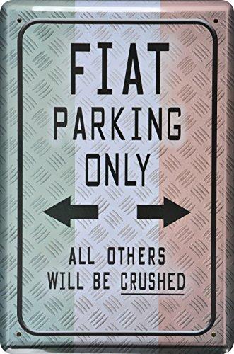 wandschild-metalschild-parkschild-fiat-parking-only-20x30cm-reklame-retro-blech-metal-sign-xps2wa