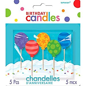 Amscan International - 170128 candle-pickcndl MLD Bday toothp- bllns