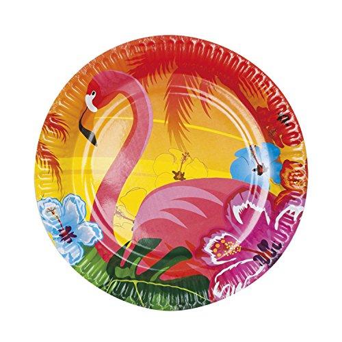 Boland 52519 Teller Flamingo, Mehrfarbig (Pet-kostüm-ideen Halloween Zu)