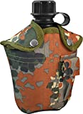 normani US Feldflasche mit Stoffbezug Army Style Farbe Flecktarn