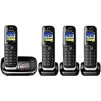 Panasonic KX-TGJ324EB Quad Handset Cordless Home Phone with Nuisance Call Blocker and LCD Colour Display - Black