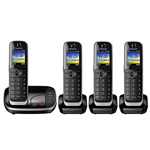 Panasonic KX-TGJ324EB Quad Handset Cordless Home Phone for sale  Delivered anywhere in UK