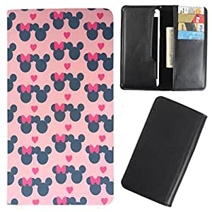DooDa - For iBall Cobalt Solus2 PU Leather Designer Fashionable Fancy Case Cover Pouch With Card & Cash Slots & Smooth Inner Velvet
