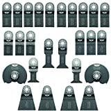 26 x TopsTools UNKA26A Mix Lames pour Bosch, Fein Multimaster, Multitalent, Makita, Milwaukee, Einhell, Ergotools, Hitachi, Parkside, Ryobi, Worx, Workzone Outil multi outil accessoires