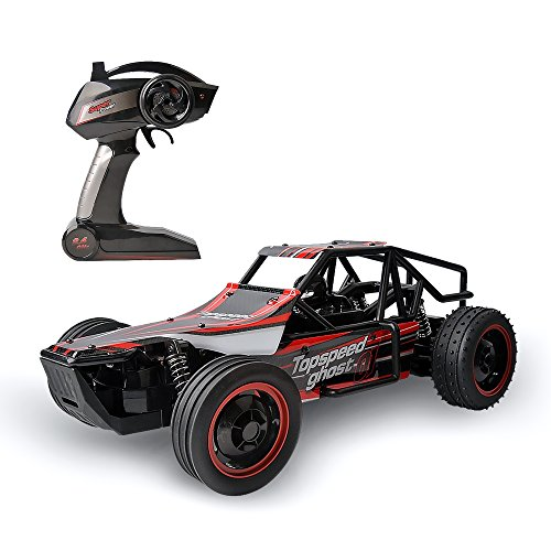 1 Rc 24 Car 4x4 (GizmoVine Ferngesteuerte Autos RC Car 1/10 Racing Buggy 15Mph Schnelle Geschwindigkeit Wüste Truggy 2.4GHZ Schnell Superkontrolle RTR Gallop (Rot 2))