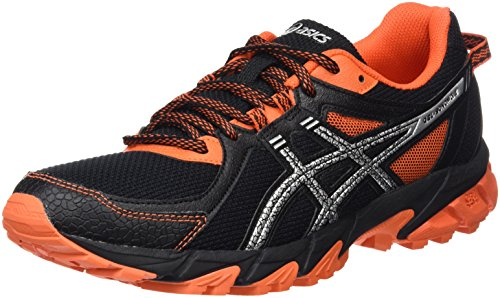 Asics Gel-Sonoma 2 - Scarpe da Trail Running Uomo, Nero (Black/Silver/Flame Orange), 41.5
