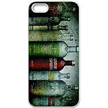 Botellas de vodka absolut S4J21 grunge funda iPhone L2N5RH 5 5s funda caja del teléfono celular cubren WS3SDE8XK blanco