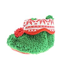 Glamour Girlz Festive Christmas Super Cute Baby Girls Boys Red & Green Elf Booties Slippers