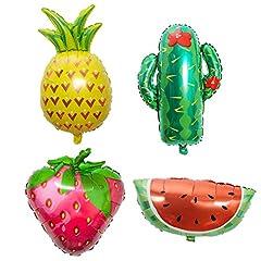 Idea Regalo - ED-Lumos Palloncini a Elio Palloncini a Forma di Frutta Anguria Ananas Fragola Cactus Decorazione per Feste, Compleanno, Party