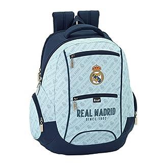 51OzmroqQdL. SS324  - Real Madrid Corporativa Oficial Mochila Tipo Casual, 44 cm, Gris/Azul Marino