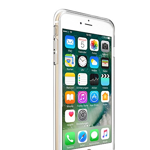 iPhone SE, 5S, 5 Hülle Schwarz Backcover Silikon Schutzhülle im Basic Design Cover aus TPU Rückschale Motiv 3