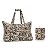 Reisenthel mini maxi travelbag Borsa da spiaggia, 65 cm, 30 liters, Marrone (Diamonds Mocha)