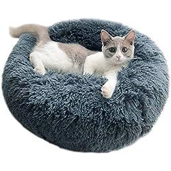 Vivi Bear Lit Chat Lit Chien Extra-Doux Confortable et Mignon,Coussin pour lit de Chat Lavable,Coussin pour Chat Convient Chat et Petit Chien