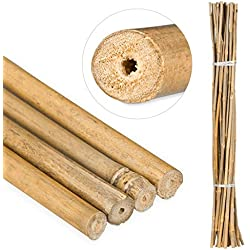 Relaxdays Varas, Tutores para Plantas, Bambú, 105 cm, Color Natural, Marrón