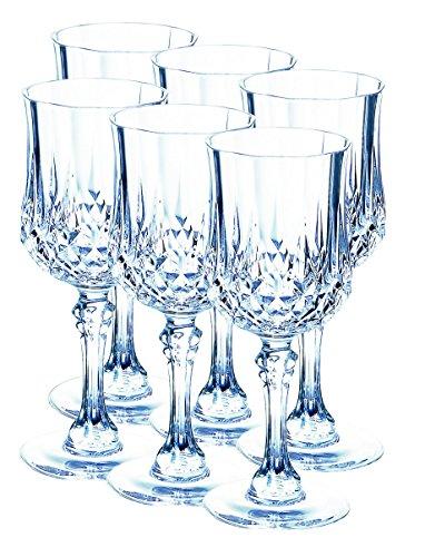 Cristal d'Arcques, Serie Longchamp, copas de licor 12 cl en el conjunt