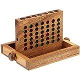 """Philos 6301 - Juego de lógica de madera """"Conecta cuatro"""", pequeño [Importado de Alemania]"""