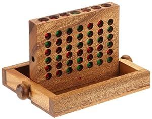 """Philos 6301 - Juego de lógica de madera """"Conecta cuatro"""", pequeño Importado de Alemania"""