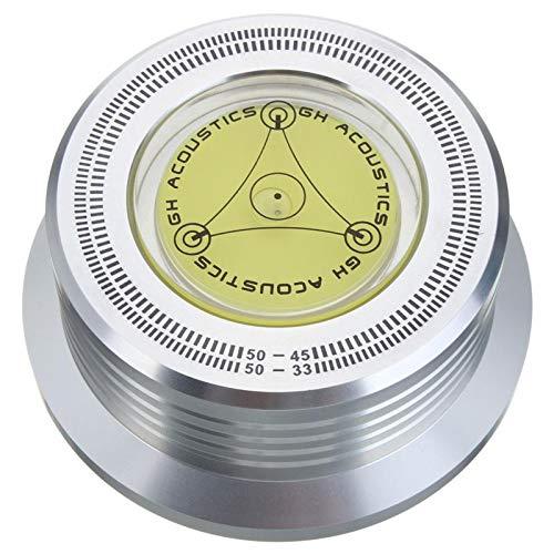 REFURBISHHOUSE 3In1 Metal Record Clamp Lp Stabilizzatore Disco Giradischi per Giradischi Disco Vinile Vibrazione Bilanciato (Argento)