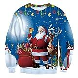 Weihnachtspulli Damen Herbst Winter Elegante Mode Pulli 3D Druck Bekleidung Gemustert Rundhals Langarm Sweatshirts Locker Festival Jungen Pullover Casual Bequeme Sport Shirt Moderner Stil