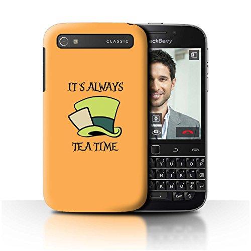 Stuff4® Hülle/Case für BlackBerry Classic/Q20 / Mad Hatter/Teezeit Muster/Fantasie-Wunderland-Kunst Kollektion