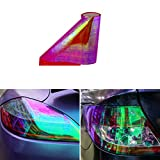 ABy 200cm x 30cm Scheinwerfer Folie Tönungsfolie Aufkleber für Auto Scheinwerfer Rückleuchten Blinker Nebelscheinwerfer(Rot)
