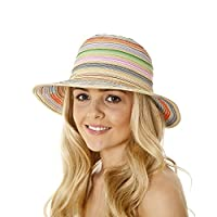 i-Smalls New Season for 2019 Ladies Narrow Brim Ribbon Braid Fashion Sun Hat